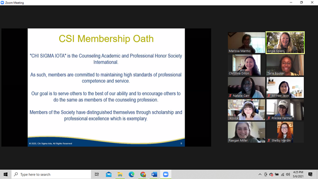 EKU Chapter of Chi Sigma Iota, honor society of professional counseling